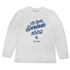 T-shirt manches longues - blanc unisexe